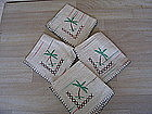Vintage Embroidered Napkins
