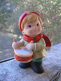 Homco Little Boy Christmas Figurine