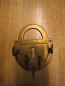 Brass Lock Keyholder