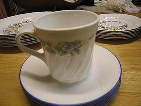 Corelle Orchard Rose Cup and Saucer