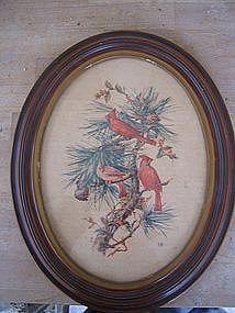 Vintage Cardinal Print