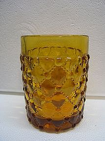 Vintage Amber Beaded Glass