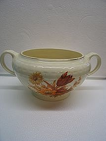 Knowles Rust Flowers Sugar Bowl