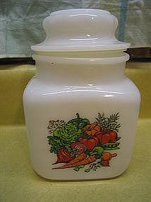 Vintage Milk Glass Canister