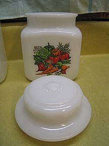 Milk Glass Canister Lid