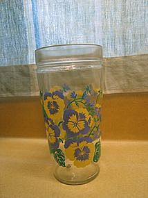 Pansy Peanut Butter Glass