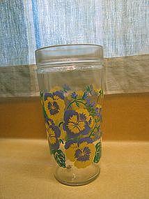 Pansy Peanut Butter Glass