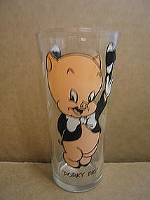 Pepsi Porky Pig Glass