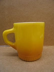 Yellow Fire King Mug