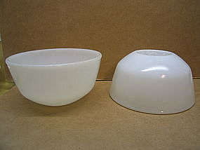 White Fire King Bowl