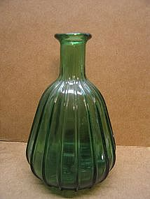 Vintage Green Glass Bud Vase