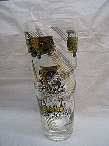 Black and Gold Transportation Glass