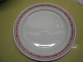 Mayer Red Restaurant Plate