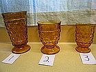 Amber Cubist Glass