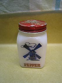Hazel Atlas Windmill Pepper Shaker