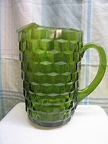 Vintage Green Cubist Pitcher