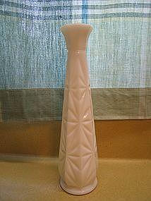 Starburst Milk Glass Vase