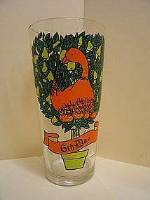 6th Days of Christmas Glass