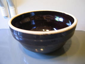 Vintage Brown Pottery Bowl
