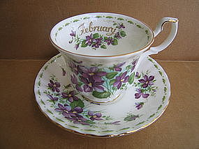 Royal Albert Flower of the Month February Saucer