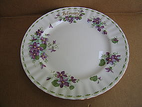 Royal Albert Violets February Plate