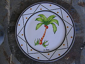 Godinger Palm Tree Plate