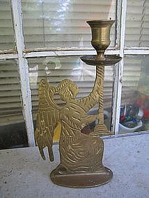 Brass Angel Candle Holder
