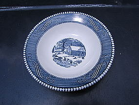 Royal Currier and Ives Bowl