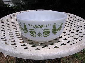 Federal Green Birds Mixing Bowl
