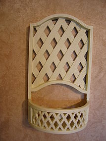 Lattice Candle Sconce