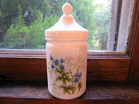 Milk Glass Flower Apothecary Jar