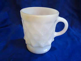 Anchor Hocking White Kimberly Mug
