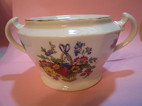 Crown Imperial Flower Basket Sugar Bowl