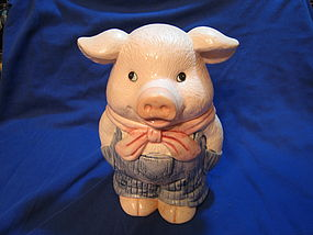 Pig in Overalls Cookie Jar