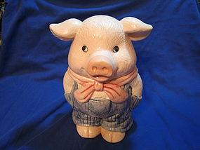 Pig in Overalls Cookie Jar