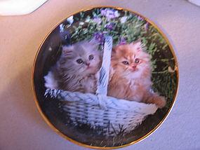 Franklin Mint Nancy Matthews Cat Plate
