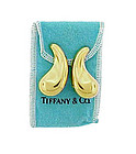 Tiffany & Co. Elsa Peretti 18K Gold COMMA Earrings
