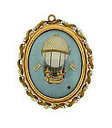 Georgian18K Pearl Montgolfier Balloon Pendant Locket