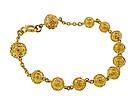 Victorian Etruscan Revival 18K Gold Bead Bracelet