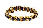 18K Gold, Sapphire & Diamond Bracelet