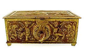 Victorian Cervantes DON QUIXOTE Bronze Jewel Casket