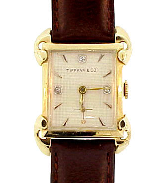 Art Deco 14K Gold Tiffany & Co. (H. Moser) Wristwatch