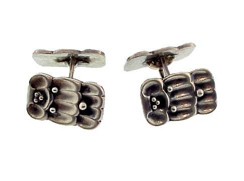 Art Deco Norwegian Silver Cufflinks