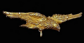 French 18K Gold Eagle Brooch/Watch Pin