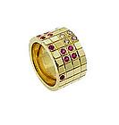 Cartier 18K Gold, Diamond & Ruby Reversible Ring
