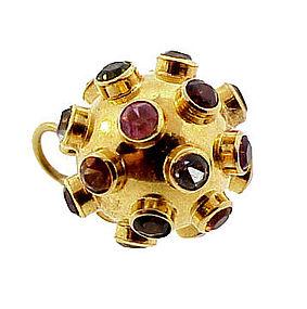 H Stern 18K Yellow Gold Multi-Gem SPUTNIK Charm/Pendant