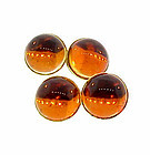 Art Deco 14K Yellow Gold & Amber Double-Sided Cufflinks