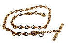 Victorian 14K Yellow Gold & Enamel Watch Chain