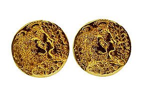 Salvador Dali & Piaget 22K Gold Dali d'Or Cufflinks