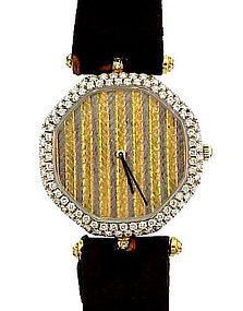 Van Cleef & Arpels 18K Gold & Diamond Man's Dress Watch